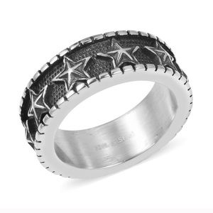 Other - Black Oxidized Stainless Steel Eternity Band Men's